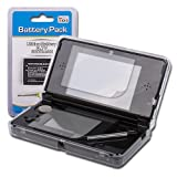 Shop4 Gift Pack for Nintendo 3DS Includes - Clear Crystal Full Cover Hard Case - Screen Protector - Stylus - Replacement Battery Pack
