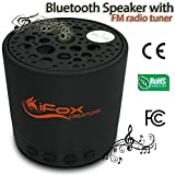 iFox - iF010 Bluetooth Portable Speaker with FM Radio and Speakerphone - Wirelessly Pair with iPod, iPhone, iPad, Android - Perfect for Car, Indoor, & Outdoor