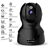 YATWIN Wireless WIFI Security Camera HD 720P Home Indoor IP Camera Baby Pet Elderly Dog Monitor With Pan Tilt Zoom, Night Vision, Two-Way Audio, Motion Detection, Remote Viewing (Jet Black)