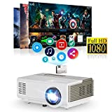 CAIWEI Mini LED Projector Portable Max 1080p Support 1500 Lumen Multimedia LCD Projectors Home Theater Cinema for Games, Outdoor Movies Parties,50000hrs lamp-life