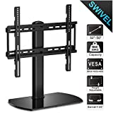 Fitueyes Universal Pedestal TV Stand with Swivel Mount for 32 to 50 inch TVs TT104501GB