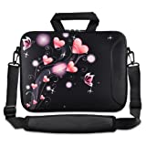 ToLuLuPink Heart Bag 9.7' 10' 10.2' inch Laptop Netbook Tablet Shoulder Case Carrying Sleeve bag For Apple iPad/Asus EeePC/Acer Aspire one/Dell inspiron mini/Samsung N145/Lenovo S205 S10/HP Touchpad Mini 210