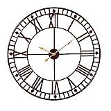 Roman Numeral Wall Clock Large Round Metal Skeleton Indoor/Garden Outdoor Decorative Clock 31.5inch by Markliu