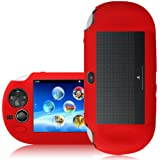 CNL RED SILICONE COVER CASE SKIN GRIP FOR THE SONY PS VITA PLAYSTATION CONSOLE