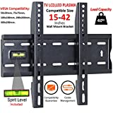 Safekom 15' - 42' Inches Fixed TV Wall Bracket Mount For 15 26 30 32 37 40 42 inch 3D Sony Samsung Panasonic LG TVs LCD LED Plasma Built in Spirit Level