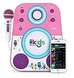 Singing Machine SMK250PP Bluetooth Sing Along Karaoke Machine, Purple/Pink