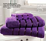 Egyptian Cotton Bath Sheet 600gsm Luxury Extra Large Thick Bathroom Towels Super Soft Combed Highly Absorbent High Quality Towels 90 x 140 Cm , Aubergine