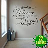 Welcome May all Who Come V1 - Wall Decal Sticker Quote lounge living room bedroom (Medium) by Wondrous Wall Art