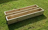 2 x Large 120cm Long (4ft) Wooden Garden/Patio/Window Box Planters: Fully Assembled - Just add plants: Fast & Free Delivery