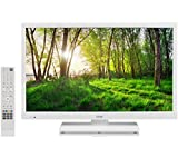 Logik L24HEDW15 24' Inch White HD Ready LED TV DVD Combi PC Input HDMI USB Record Pause Play Live TV. (White)