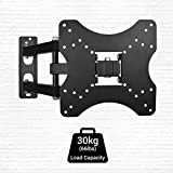"12""-42"" Tilt & Swivel TV Wall Mount Bracket with Cable Management System for LED, LCD, 3D, Curved, Plasma, Flat Screen Televisions - Super Strong 30kg Weight Capacity"