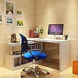 "Furnitureboxuk ""Siena"" White High Gloss Computer PC Home Executive Study Office Corner Desk"