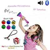 Kids Karaoke Echo Rocket Microphone, Multi Child MP3 Music Singing Fun Song Machine Set with Karaoke Microphone, Games Machine Kids, Kids Microphone with Lights, Outdoor Social Party Game Toy with Princess Design, Family Games Sing Dancing Gifts, Creative Electronics Toys For 4 5 6 7 8 9 Year Old Girls, Birthday Gifts for Sister Girls Teenagers Ideal for Disney Songs