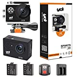 YDI H9R Waterproof Action Camera 4K 12MP WiFi Sport Cam Camcorder Underwater 30M with 2.0 inch Screen, 170 Wide Angle, Remote Control, 2 Batteries, Mounting Accessories (Black)