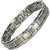 MPS POLARIS Titanium Magnetic Bracelet for Men, Classic + Free Link Removal Tool
