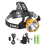 USB Rechargeable LED Head Torch, Neolight Super Bright Waterproof CREE Headlamp Headlight for Outdoor Fishing Camping Walking Running Cycling Mining Climbing Hiking
