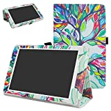 Alcatel OneTouch Pixi 3 Case,Mama Mouth PU Leather Folio 2-folding Stand Cover with Stylus Holder for 8' Alcatel OneTouch Pixi 3 8 3G Tablet PC,Love Tree