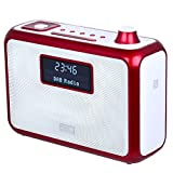 August DAB+ Clock Radio Bluetooth Speaker MB400 - Wake to your Favourite DAB, FM or MP3 Music and Bring it with You - Portable Powered by C Cells (not included)