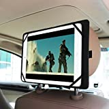 Fintie Universal Car Headrest Mount Holder for 7-Inch to 11-Inch Tablet PC Inclu. New iPad 9.7, iPad Pro 10.5, iPad Pro 9.7, iPad Air 2 / 1, iPad 1 2 3 4, iPad Mini 1 / 2 / 3 / 4, Samsung Galaxy Tab E / Tab A / Tab S2, Alcatel Pixi 3, Huawei MediaPad T1 / T2 / M2 / M3, Lenovo, Acer, Asus, Fusion 5, it New British 10, Microsoft Surface, Nexus, Vodafone Tab Prime 7 and more, Black