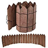 100 x 20cm Garden Border Roll Natural Wooden Fencing Timber Pathway Plant Lawn Flexible Edging Vertical Log