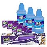 Flash Powermop Bundle: Starter Kit, 48 Refill Cleaning Pads, 3 x Sea Minerals Liquid Refills 1.25 L
