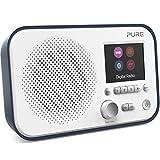 Pure Elan BT3 Portable Digital DAB/DAB+/FM Radio with Bluetooth - Alarm - Colour Screen - Battery / Mains Powered - Slate Blue