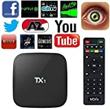 TV BOX,Network Set-Top Amlogic S805 Quad Core TV Box With Xbmc Pre-installed Android 4.4 1G+8G HDMI H.265 Wifi LAN Miracast Airplay Player 1G RAM 8G ROM (TX1 S805)