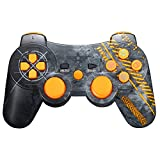 Warfare PS3 Controller Wireless, Bluetooth Dual Vibration Sixaxis Game Remote Warfare Customized Gamepad for Sony PlayStation 3 PS3 - Warfare Edition (Yellow)