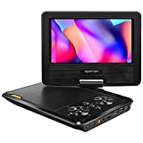 apeman Portable DVD Player, 7.5'' for Kids and Car Swivel Screen Support SD card USB CD DVD with AV IN/OUT and Earphone Port 4 Hours Built-in Rechargeable Battery