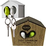 Duo Sparrow Bird House & Keyrings (GW)