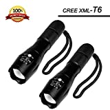 GXL LED Torch, Adjustable Waterproof LED Flashlight - As Seen on TV Super Bright 900 Lumen XML T6 Led, 5 Mode Adjustable Focus CREE Tactical Flashlight by 3 x AAA Batteries or 1 x18650 Rechargeable Batteries (No Included) for Hiking Cycling Camping SOS Emergencies Home Repair Dog Walking Inspection