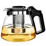 Glass Teapot with Infuser XAGOO Glass Teapots Large 1500 ml, Blooming and Loose Leaf Tea Pot with Stainless Steel Infuser