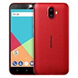 Ulefone S7 Smartphone Unlocked Android 7.0, Triple Camera 8MP+5MP+5MP, Quad Core MTK 6580 1.3GHz, Dual SIM, 5.0' Screen, 1GB RAM+8GB ROM, 2500mAh Battery, Cheap 3G SIM Free Mobile Phones (Red)
