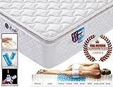 3FT Single 9-Zone Memory Foam Mattress with Pocket Springs - Orthopaedic Mattress - 10.6-Inch