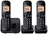 Panasonic KX-TGC213EB Trio DECT Phone with Call Blocking - Black