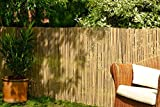 Best Artificial Bamboo Slat Fencing Screening Roll for Garden Outdoor Privacy - 4m x 1.8m