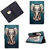 LMAZWUFULM Case for Amazon Fire HD 8 2016 / 2017 (8,0 Inch) PU Leather Ultra-thin Magnetic Closure Folding Leather Cover Music Elephant Pattern Auto Sleep / Wake Function of Bookstyle with Stent Function Holster Leather Case Flip Cover for Amazon Fire HD 8 Tablet PC Pattern 1