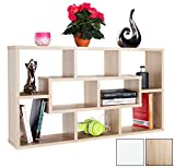 RICOO Wall Shelves Bookcase WM050ES Wood 2 3 Tier Floating Book Storage Hanging Rack Organiser Unit Racking Shelf/Sonoma Oak Effect Brown