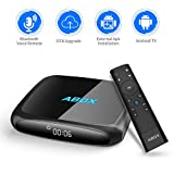 Android Tv Box, 2018 ABOX The 4th Generation A4 Android 7.1 UHD 4k Smart Tv Box with Voice Remote, Wi-Fi, Bluetooth, Compatible with Phones