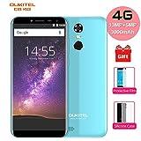 Cheap Smartphones, Oukitel C8 4G 5.5 Inch (18:9 HD Screen) SIM-Free Mobile Phones 3000mAh Battery Unlocked Android 7.0 13MP+5MP Camera MT6737 Quad-core 1.3GHz 2GB RAM 16GB ROM-Blue