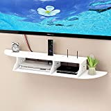 FLOATING SHELVES CHIC WALL MOUNT FOR CD TV DVD BOOK DISPLAY STORAGE MODERN WHITE