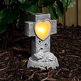 Memorial Gravestone - Cat - Solar Powered - Warm White LED - Outdoor by Festive Lights