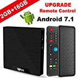 Android TV Box - VIDEN W2 Newest Android 7.1 Smart TV Boxsets, Amlogic S905W Quad-Core, 2GB RAM & 16GB ROM, 4K Ultra HD, Support Video Encoder for H.264, WIFI Media Player + Multifunctional Keyboard