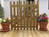 3ft x 3ft Treated Wooden Round Top Picket Garden Gate