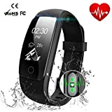Smart Watch Waterproof IP67 Activity Tracker With Heart Rate Monitor - Fitness Tracker 0.96' OLED Screen Bluetooth 4.0 Pedometer Smartwatch Wireless USB charging Wristband Bracelet with Weather Forecast