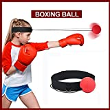 Reflex Boxing Ball , BUTYPAL Fight Ball Reflex Speed Reactions Boxing MMA Training for Kids / Adult - Punch Equipment Boxing Ball on Elastic String with Headband to Impove Hand Eye Coordination Sport Exercise Fitness