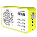 MoreAudio Desire DAB Digital FM Radio Alarm Clock - Rechargable Battery / Mains Powered - Green