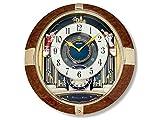 Seiko QXM333B Melody And Motion Decorative Musical Wall Clock Rotating Pendulum