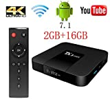 TX3 Mini TV Box Android 7.1, 2G RAM 16G ROM 4K Ultra HD WiFi 2017 Wingogo Smart Tv Box (2GB+16GB)