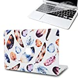 MacBook Pro 13 inch Case(Old Generation), [Lithe Feather Design] Soundmae Frosted Plastic Hard Shell Skin Smooth Touch Case & Keyboard Cover for MacBook Pro 13.3 With CD-ROM A1278, Plume